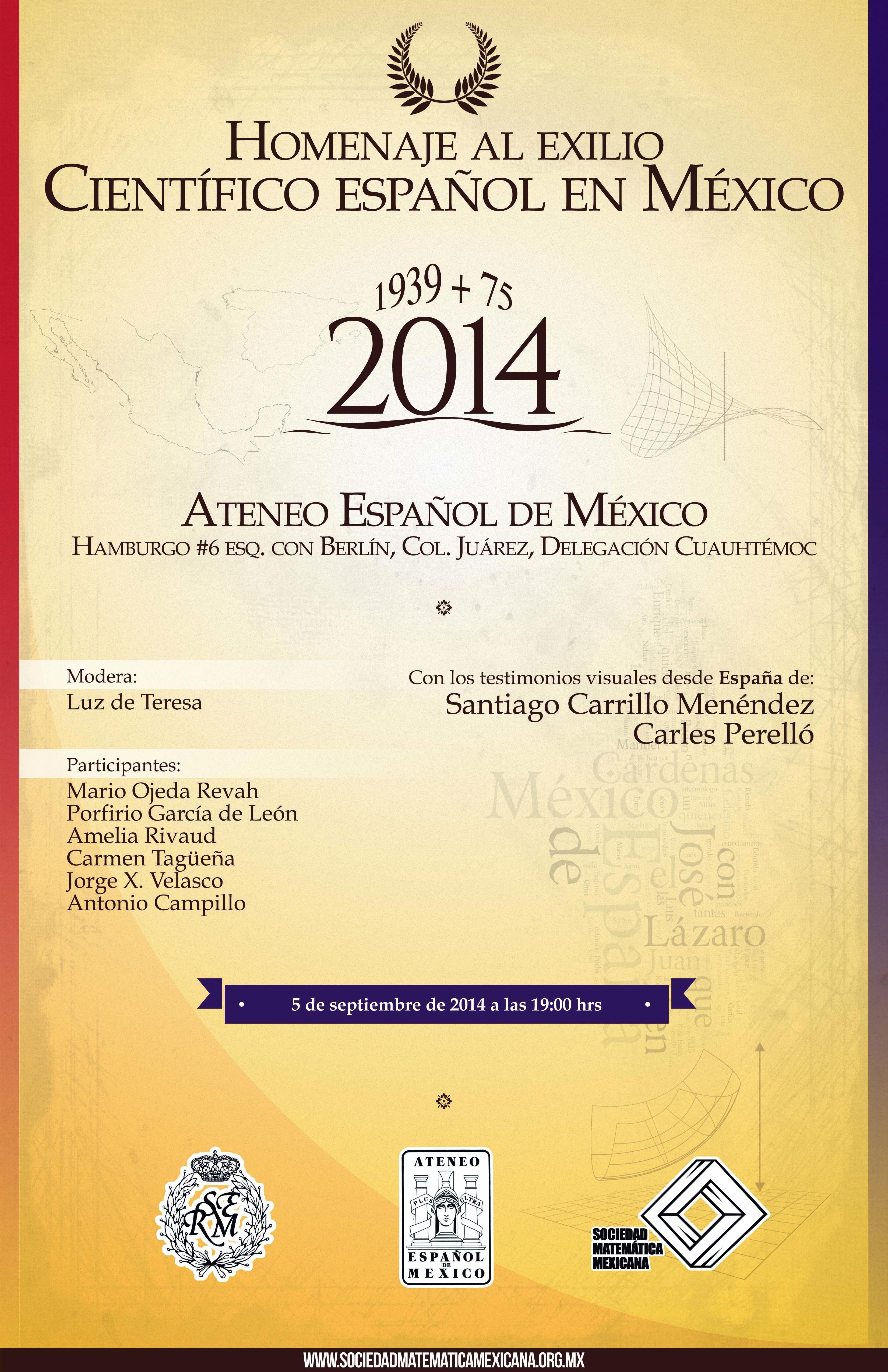 Homenaje al exilio científico español en México