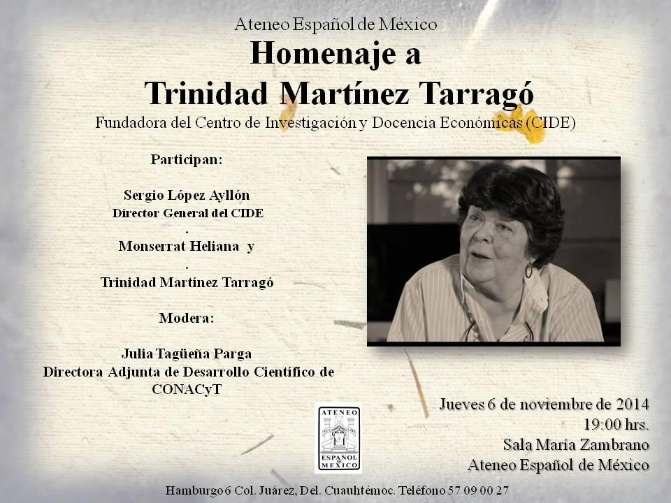 Homenaje a Trinidad Martínez Tarragó