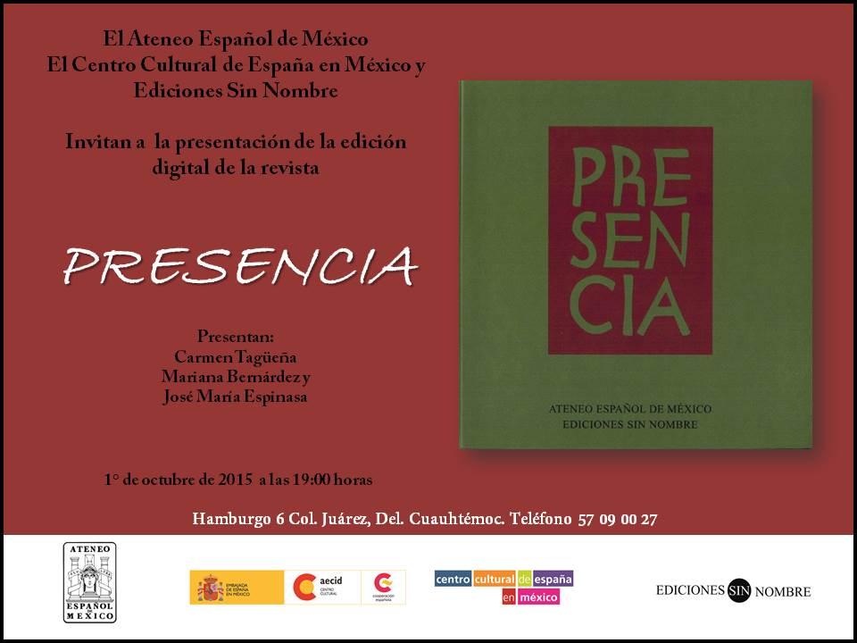 Invitación 1° de octubre - Presencia AEM ESN CCEMX